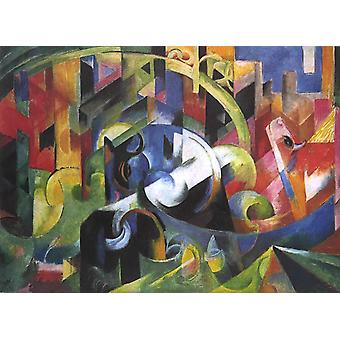 Painting with Cattle, Franz Marc, 50x40cm