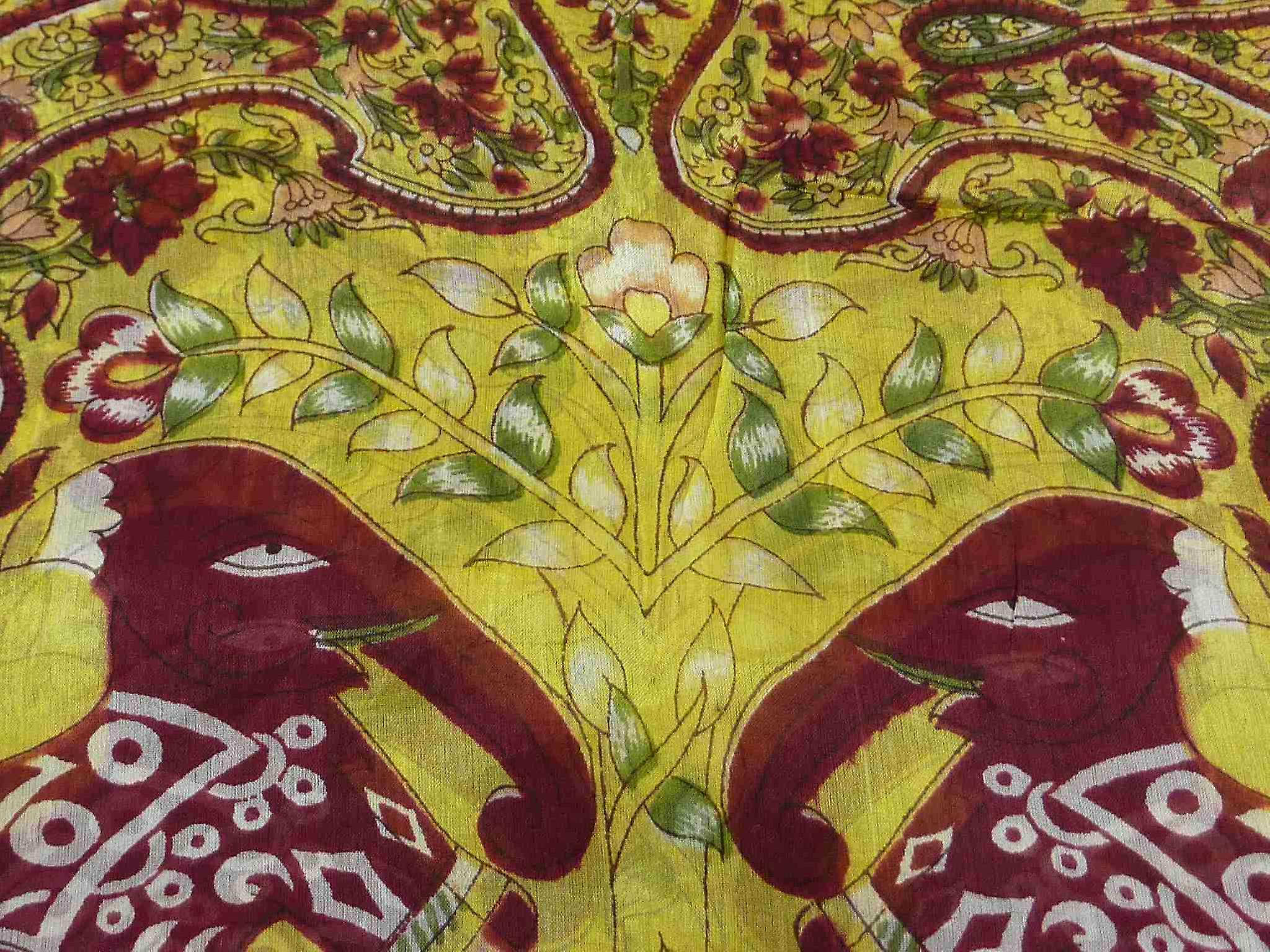 Mulberry Silk Traditional Long Scarf Nam Gold by Pashmina & Silk