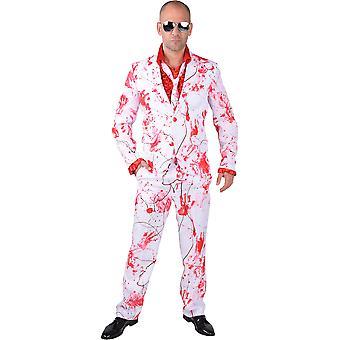 Trajes de homens traje dos homens homens com sangue espirra para o halloween
