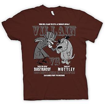 Hommes T-shirt - Dastardly Et Muttley - Villain - Drôle