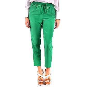 Red Valentino Ezbc026041 Women's Green Silk Pants