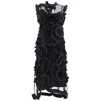 Moncler Genius 6811302549yz999 Women's Black Silk Dress