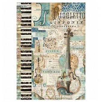 Stamperia Rice Paper A4 Music Violin
