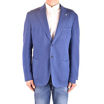 L.b.m. Ezbc215020 Men's Blue Cotton Blazer