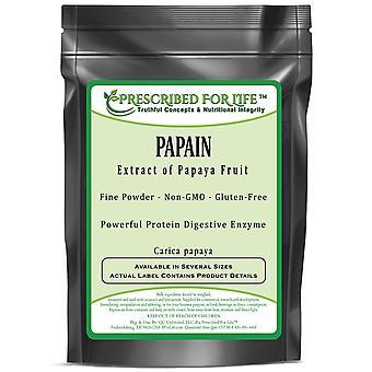 Papain - Natural Powder Extract of Papaya Fruit - Protein Digestive Enzyme (Carica papaya)