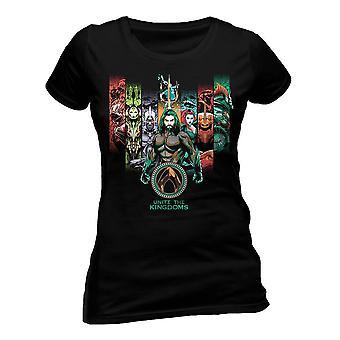Women es Aquaman Movie Unite The Kingdoms Fitted T-Shirt