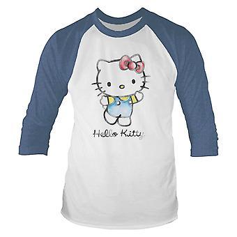 Mænds Hello Kitty langærmet baseball skjorte