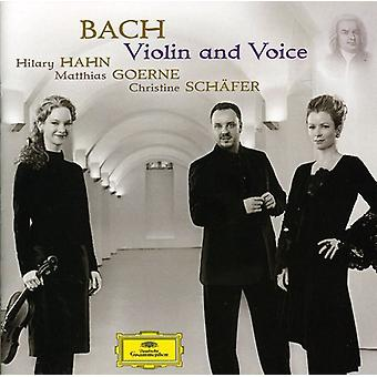 Hahn/Goerne/Schafer - Bach: Violin and Voice [CD] USA import
