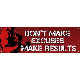Grindstore Don`t Make Excuses Slim Tin Sign