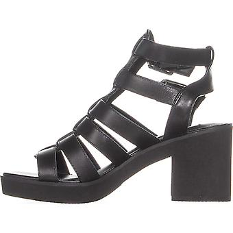 Steve Madden Womens Clue Leather Open Toe Casual Strappy Sandals
