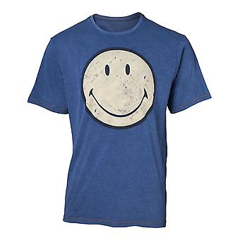 Smiley T-Shirt Faux Denim Mens T-Shirt X-Large Blue (TS551121SML-XL)