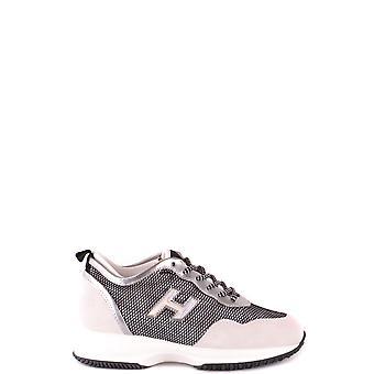 Hogan Ezbc030167 Damen's Weiß/Schwarz Wildleder Sneakers
