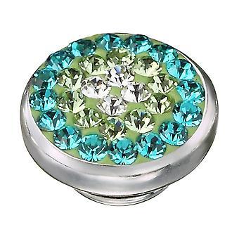 KAMELEON Green Sparkle Sterling Silver JewelPop KJP49
