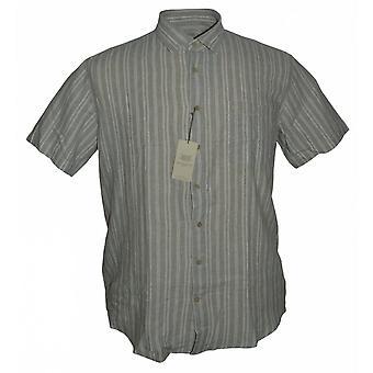 BAR HARBOUR Bar Harbour Linen Mix Short Sleeve Shirt
