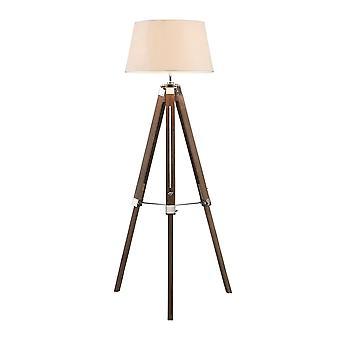 Fusion Living hedendaagse bruin en crème statief vloer lamp