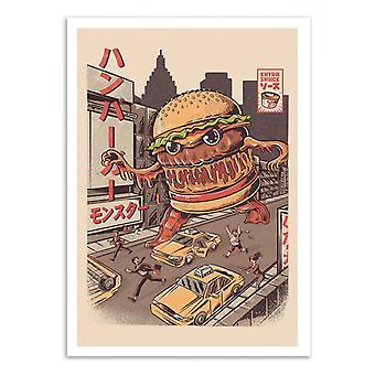 Plakat artystyczny - Burgerzilla - Ilustrata