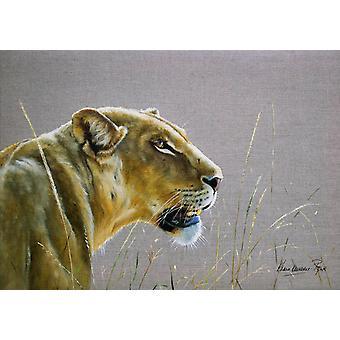 Land Matters tryckt bordstablett-Lioness