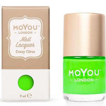 MoYou London Stamping Nail Lacquer - Crazy Citrus 9ML (MN132)
