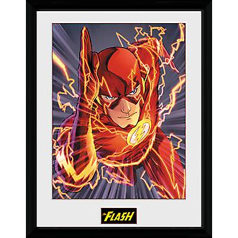 Justice League Flash indrammet Collector Print 40x30cm