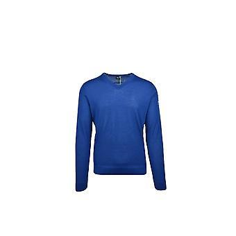 BOSS Athleisure Boss Vasco Pro V Neck Modern Fit Sweater Knitwear Royal Blue