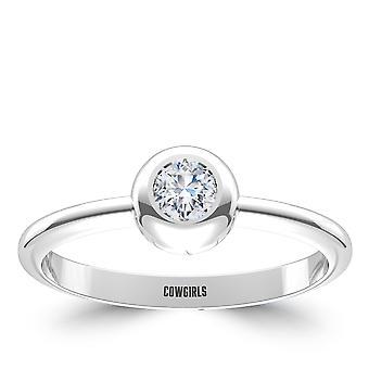 Oklahoma State University Diamond Ring In Sterling Silver Design by BIXLER