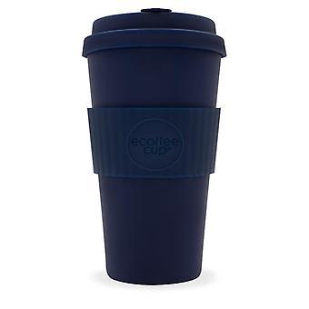 Ecoffee Eco-Friendly 16oz 470ml reutilizable natural bambú fibra de té y tazas de café con tapa de tapa de silicona para viajes y hogar - varios colores