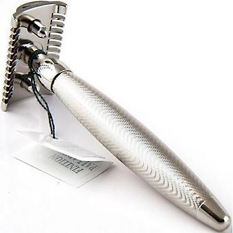 Silver Security razor Godron - Modern