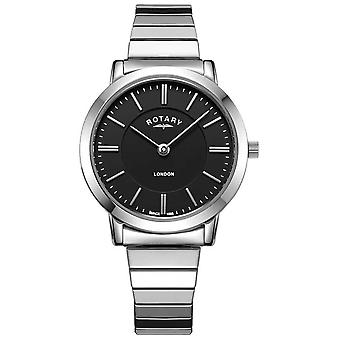 Rotary Womens London Stainless Steel Expanding Bracelet LB00765/04 Watch
