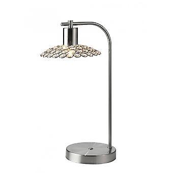 Diyas Ellen 1 Light Table Lamp Satin Nickel/Crystal