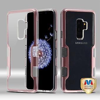 MYBAT metallic Rose Gold/transparante Clear TUFF Panoview Hybrid Protector cover voor Galaxy S9 plus