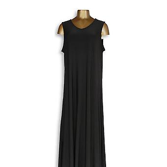 Attitudes by Renee Petite Dress MP Como Jersey Sleeveless Maxi Black A347505