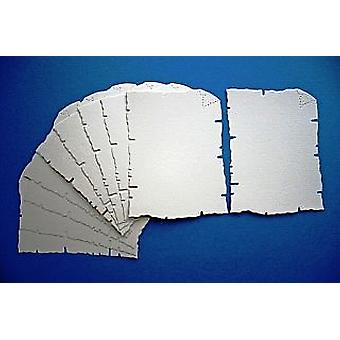 SALE - 10 Cream Card Parchment Shapes for Kids Pirate Treasure Maps