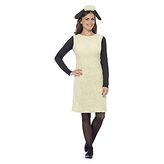 Womens Shaun la pecora Fancy Dress Costume