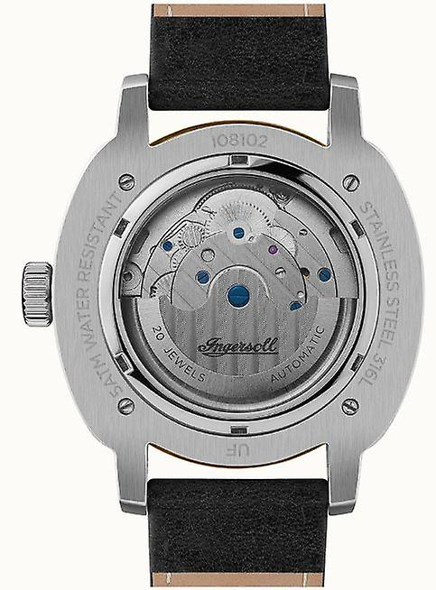 Ingersoll The Director Automatic White Dial Black Leather Strap Mens Watch I08102