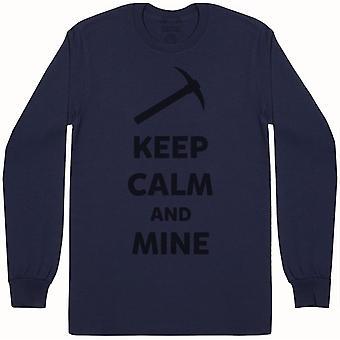 Keep Calm And Mine - Mens Long Sleeve T-Shirt