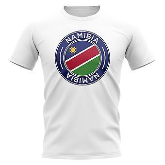 Namibia fotball Badge T-skjorte (hvit)
