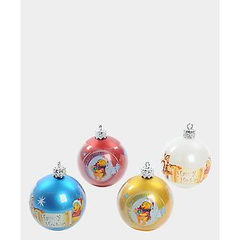 Kit 4 Winnie The Pooh Christmas Balls