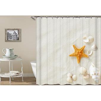 Shells On Beach White Sand Shower Curtain