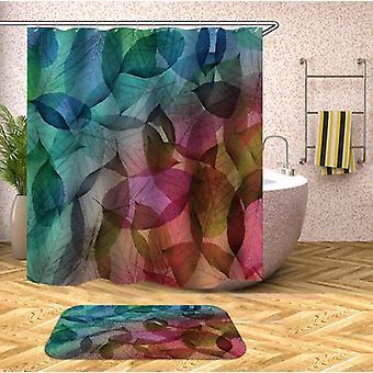 Kleurrijke bladeren douche gordijn