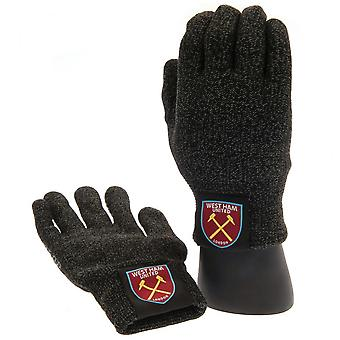 West Ham United FC Adults Unisex Luxury Touchscreen Gloves