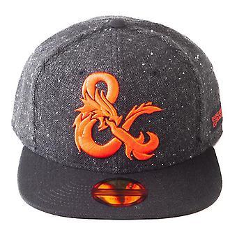 Hasbro Dungeons & Dragons Logo Snapback Baseball Cap Unisex Schwarz (SB733154HSB)