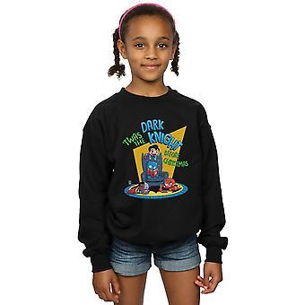 DC Comics Mädchen Super Freunde Dark Knight vor Weihnachten Sweatshirt