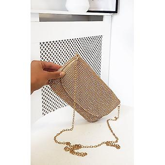 IKRUSH Womens Maria Diamante Chainmail Bolsa de Ombro