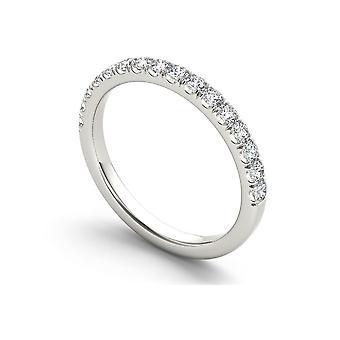 IGI CERTIFIED 10k White Gold 1/3ct TDW Diamond Wedding Band (I-J, I2)