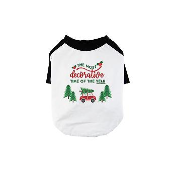 Decorative Christmas Time Cute BKWT Pets Baseball Shirt X-mas Present
