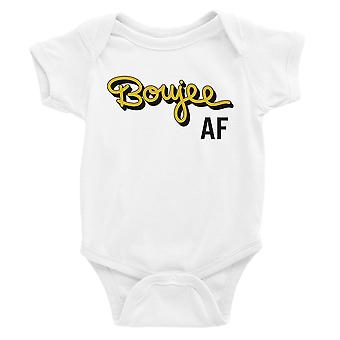 365 Printing Boujee AF Baby Bodysuit Gift White Funny Baby Jumpsuit Baby Shower