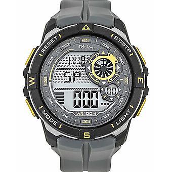 Tekday 655965 Watch - Digital Multifunction Silicone Grey Men