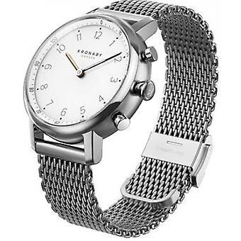 Watch Connect e Kronaby A1000-0793 - Watch Connect e Bracelet Milanese Silver Men