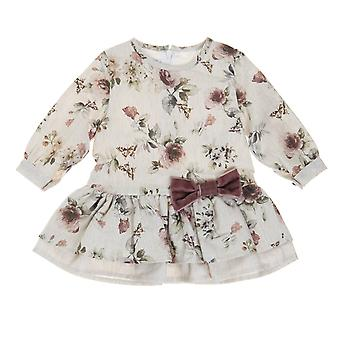 Babybol μπεζ κορίτσια floral φόρεμα