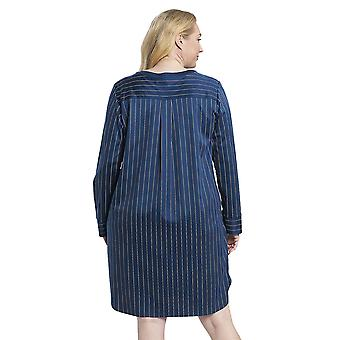 Rösch 1194524-16504 Dámské's Curve Denim Blue Pruhované Bavlněné noční košile